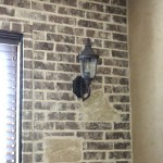 Brick Accent Wall in Breakfast Nook